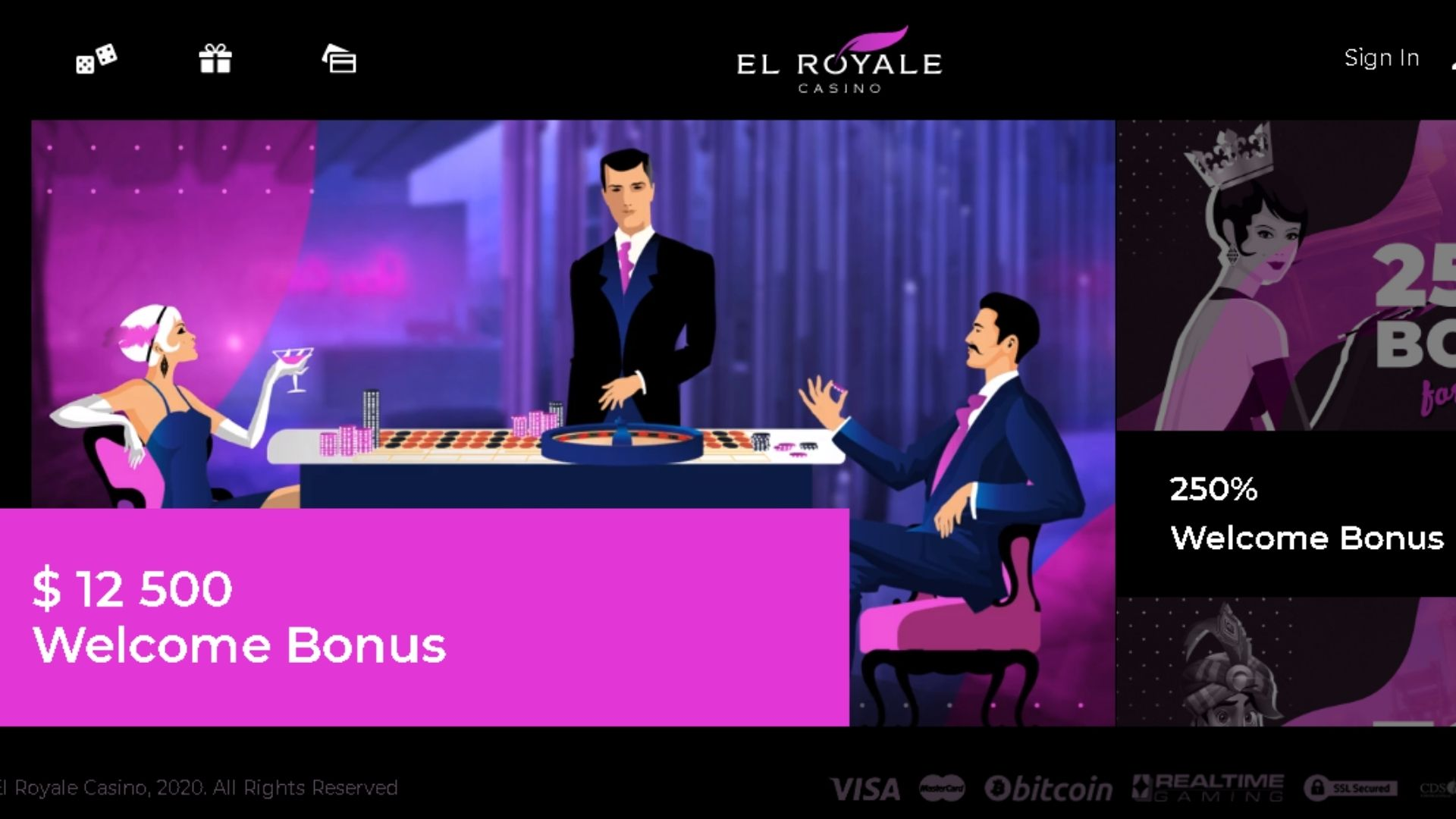 high rollers el royale casino